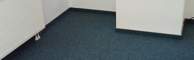 Bodenbelagsarbeiten mit Nadelfilz