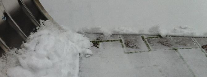 Winterdienst – Schneeeinbruch in Leipzig